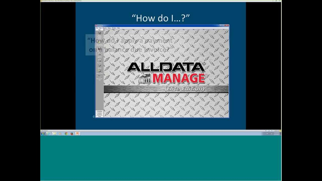 YOUR ALLDATA PRODUCTS INCLUDE TRAINING!